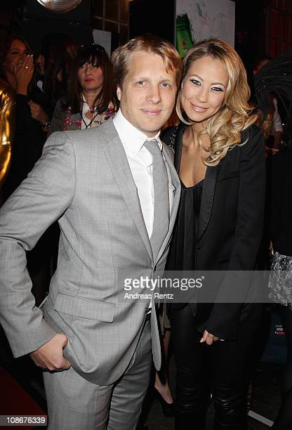 Oliver Pocher and Alessandra Pocher attend the Lambertz Monday Night 2011 Schoko Fashion party at the Alten Wartesaal on January 31 2011 in Cologne...