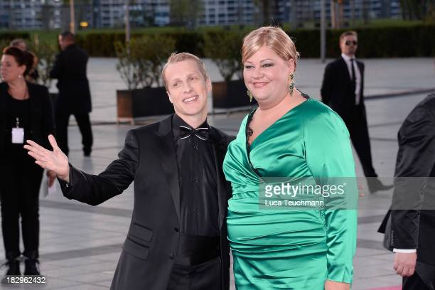 Oliver Pocher and Cindy aus Marzahn attend the Deutscher Fernsehpreis 2013 at the Coloneum on October 2 2013 in Cologne Germany