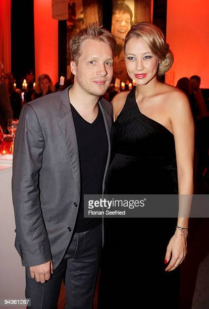 Oliver Pocher and girlfriend Sandy MeyerWoelden attend the aftershow party of 'Ein Herz fuer Kinder' Gala at Studio 20 at Adlershof on December 12...