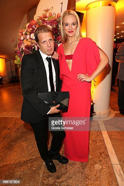 Oliver Pocher and his partner Sabine Lisicki during the German Sports Media Ball at Alte Oper on November 7 2015 in Frankfurt am Main Germany