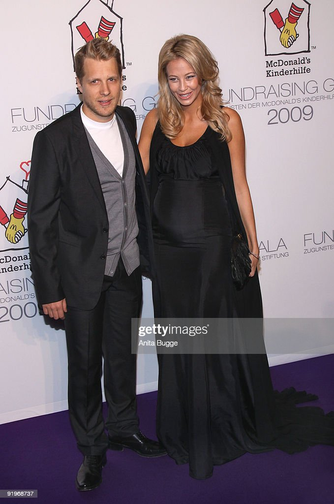 Oliver Pocher and Sandy MeyerWoelden attend the Mc Donalds Fundraising Gala at Hyatt Hotel on October 17 2009 in Berlin Germany