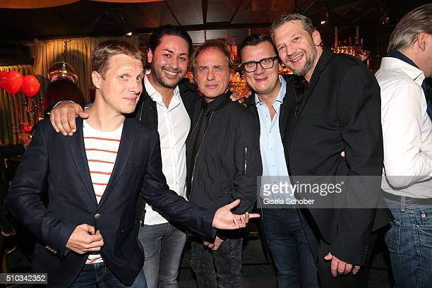 Oliver Pocher Karim Maataoui Uwe Ochsenknecht Torsten Koch Kai Wiesinger during the 'Drunk In Love' Party hosted by Constantin Film and zLabels on...