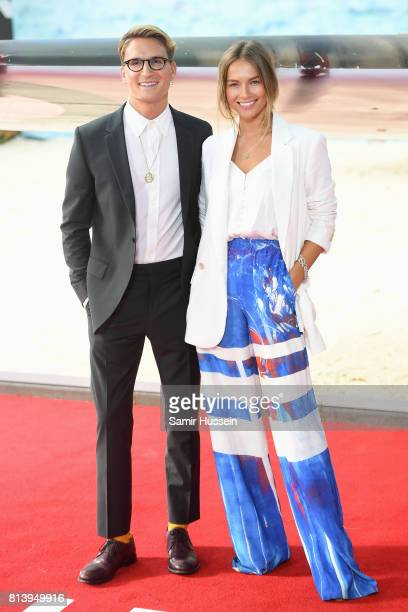 Oliver Proudlock and Emma Louise Connolly attend the 'Dunkirk' World Premiere at Odeon Leicester Square on July 13 2017 in London England