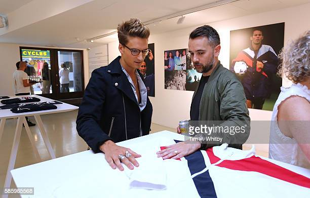 Oliver Proudlock and guest attend the Reebok Classic 90's Collection Event on August 4 2016 at Rook and Raven Gallery in London England Anais...