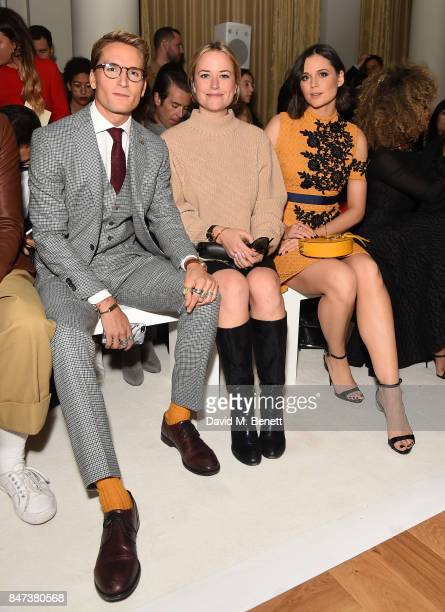 Oliver Proudlock Antonia O'Brien and Lilah Parsons attend the DAKS show during London Fashion Week September 2017 at The Langham Hotel on September...