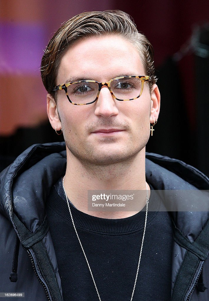 Oliver Proudlock attends a photocall as girls compete to win a pair of Christian Louboutin shoes on March 1, 2013 in London, England.