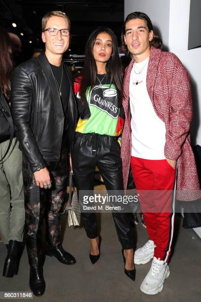 Oliver Proudlock guest and Hector Bellerin attend the launch of the GQ Style Autumn/Winter issue at 18montrose Kings Cross on October 11 2017 in...