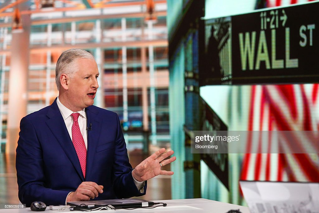 Oliver Pursche, chief executive officer at Bruderman Brothers LLC, speaks during a Bloomberg Television interview in New York, U.S., on Thursday, May 5, 2016. Pursche discussed the influence of the U.S. dollar on financial markets and the prospect of a June rate hike by the Federal Reserve. Photographer: Chris Goodney/Bloomberg via Getty Images