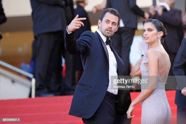 Oliver Ripley and Sara Sampaio attend the '120 Beats Per Minute ' screening during the 70th annual Cannes Film Festival at Palais des Festivals on...