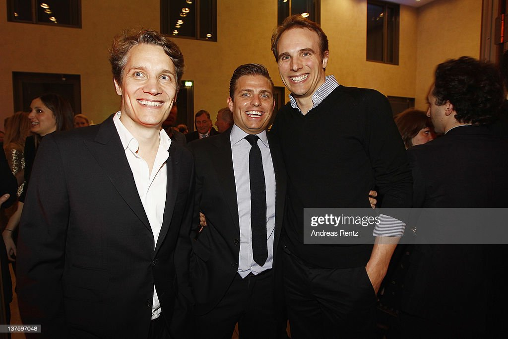 Oliver Samwer, Konstantin Sixt and Marc Samwer attend the Chairmen & Speaker Dinner during the DLD Conference 2012 at the Jewish Community Centre on January 22, 2012 in Munich, Germany.