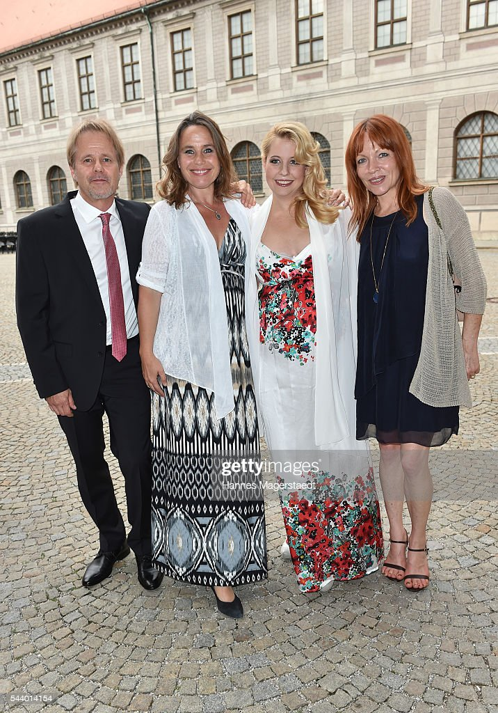 Oliver Schell, Marie Theres Kroetz-Relin, Iva Schell and Andrea Glanz Schell attend the Bernhard Wicki Award (Friedenspreis des Deutschen Films) during the Munich Film Festival 2016 at Cuvilles Theatre on June 30, 2016 in Munich, Germany.