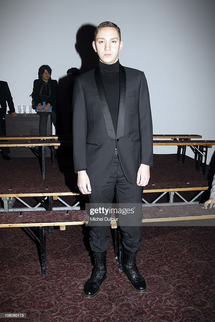 Oliver Sim attends Lanvin Paris Fashion Week Menswear F/W 2011 show as part of Paris Menswear Fashion Week Fall/Winter 20112012 on January 23 2011 in...