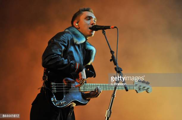 Oliver Sim of The XX headlines on The Castle Stage during Day 2 of Bestival at Lulworth Castle on September 8 2017 in Wareham England
