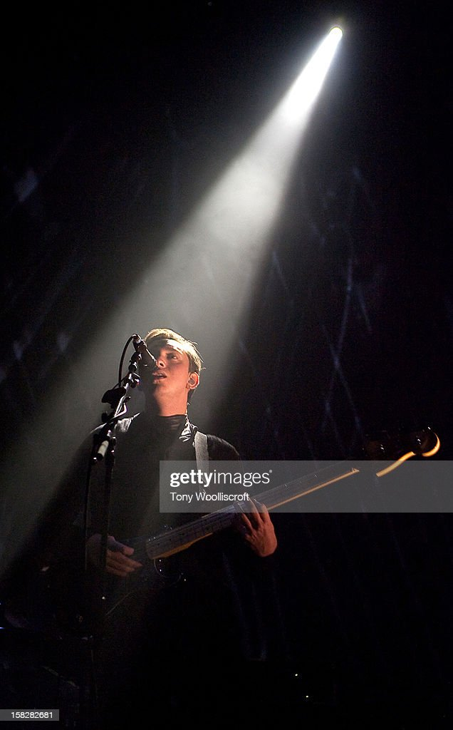 Oliver Sim of The xx performs at Wolverhampton Civic Hall on December 12 2012 in Wolverhampton England