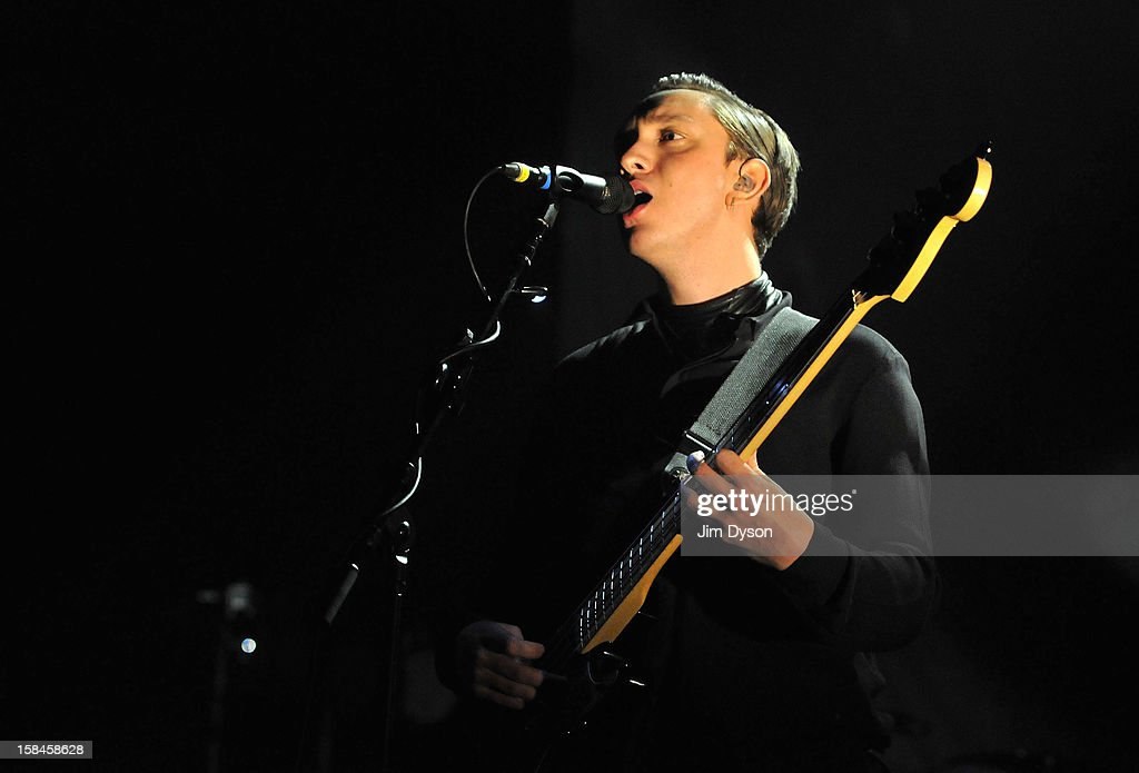 <a gi-track='captionPersonalityLinkClicked' href=/galleries/search?phrase=Oliver+Sim&family=editorial&specificpeople=6078321 ng-click='$event.stopPropagation()'>Oliver Sim</a> of The XX performs live on stage at Brixton Academy on December 16, 2012 in London, England.