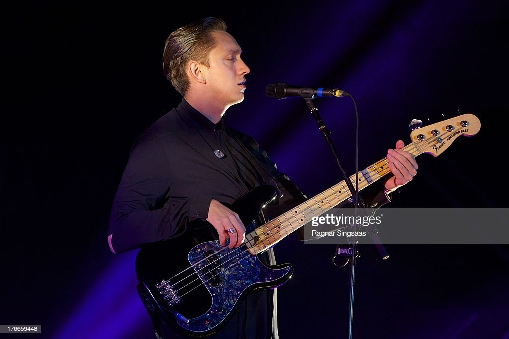 Oliver Sim of The XX performs live on stage headlining on Day 1 of Pstereo Festival 2013 on August 16 2013 in Trondheim Norway