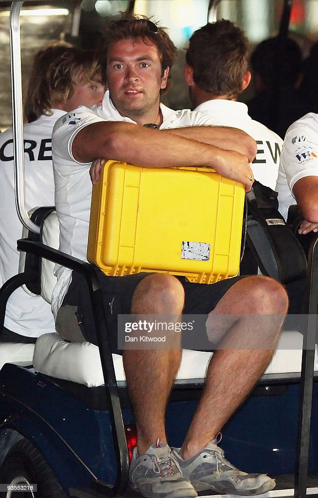 Oliver Smith one of the British sailors held by Iran's Revolutionary Guard for a week arrives back to the Dubai International Marine Club on December...