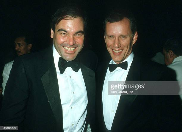 Oliver Stone and James Woods