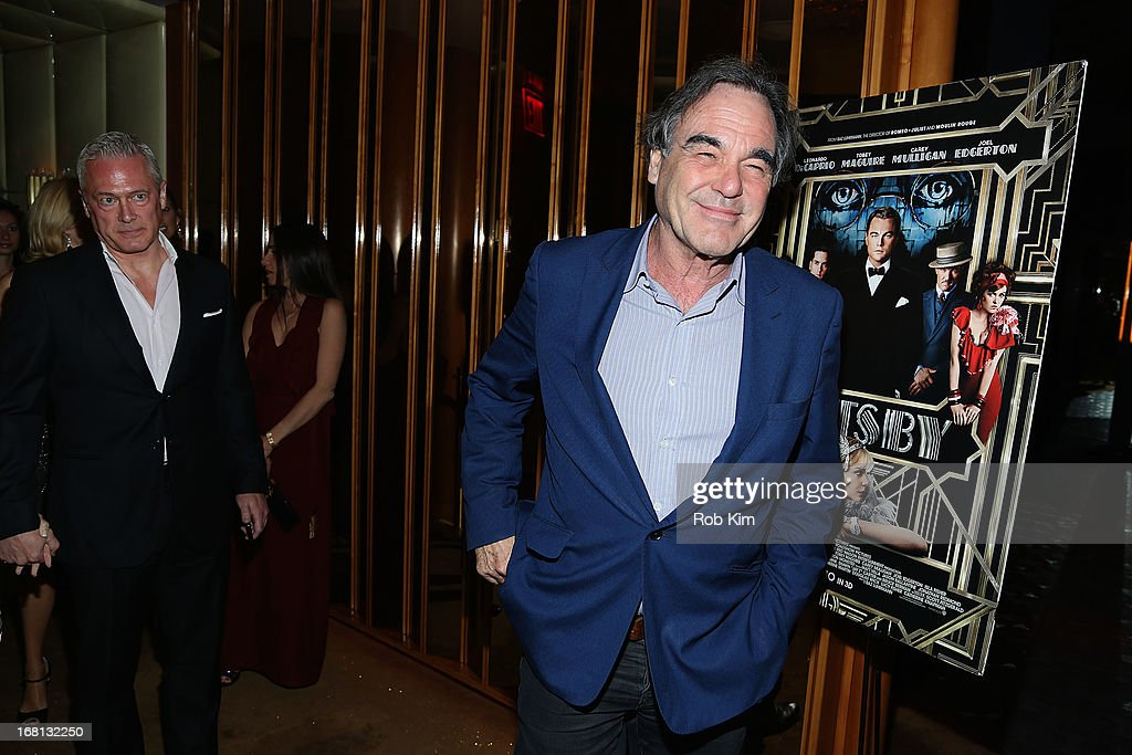 <a gi-track='captionPersonalityLinkClicked' href=/galleries/search?phrase=Oliver+Stone&family=editorial&specificpeople=173458 ng-click='$event.stopPropagation()'>Oliver Stone</a> attends the pre-Met Ball special screening of 'The Great Gatsby' after-party at The Top of The Standard on May 5, 2013 in New York City.