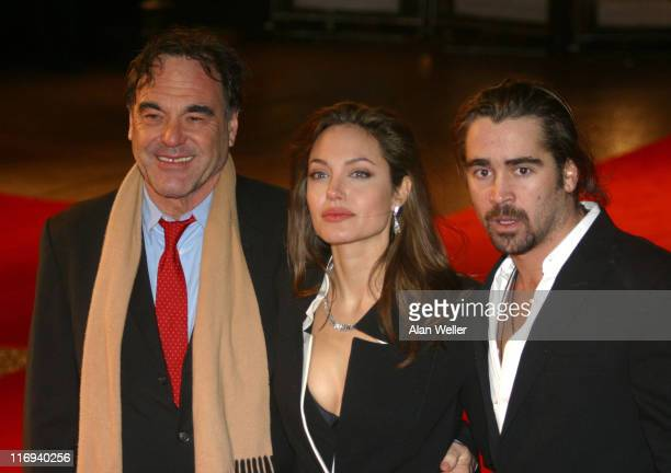 Oliver Stone director Angelina Jolie and Colin Farrell