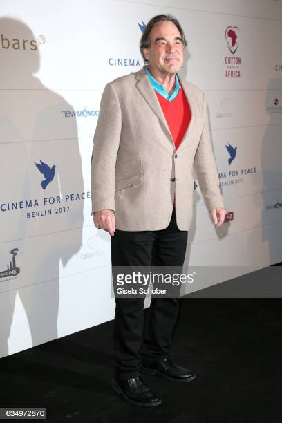 Oliver Stone during the reception for the Cinema for Peace Foundation at China Club during the 67th Berlinale International Film Festival Berlin on...