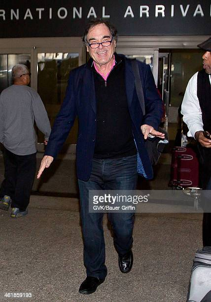 Oliver Stone is seen at LAX airport on January 11 2014 in Los Angeles California