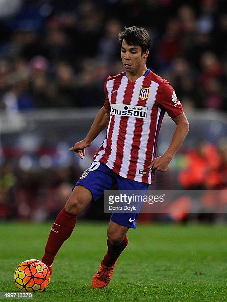 Oliver Torres of Club Atletico de Madrid in action during the La Liga match between Club Atletico de Madrid and Real CD Espanyol at Vicente Calderon...