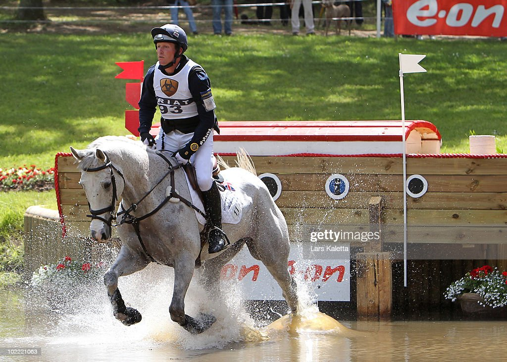 Oliver Townend of Great Britain rides on Ashdale Cruise Master during the eon 4 star cross country at the Milford Trophy on June 19 2010 in...