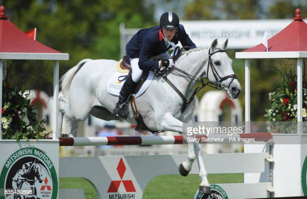Oliver Townend on Flint Curtis during the show jumping going on to win the Mitsubishi Motors Badminton Horse Trials