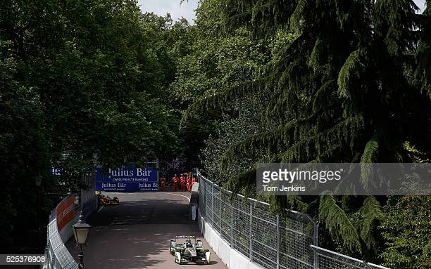 Oliver Turvey of Great Britian in the Nextev TCR car during the FIA Formula E Championship race in Battersea Park on June 27th 2015 in London