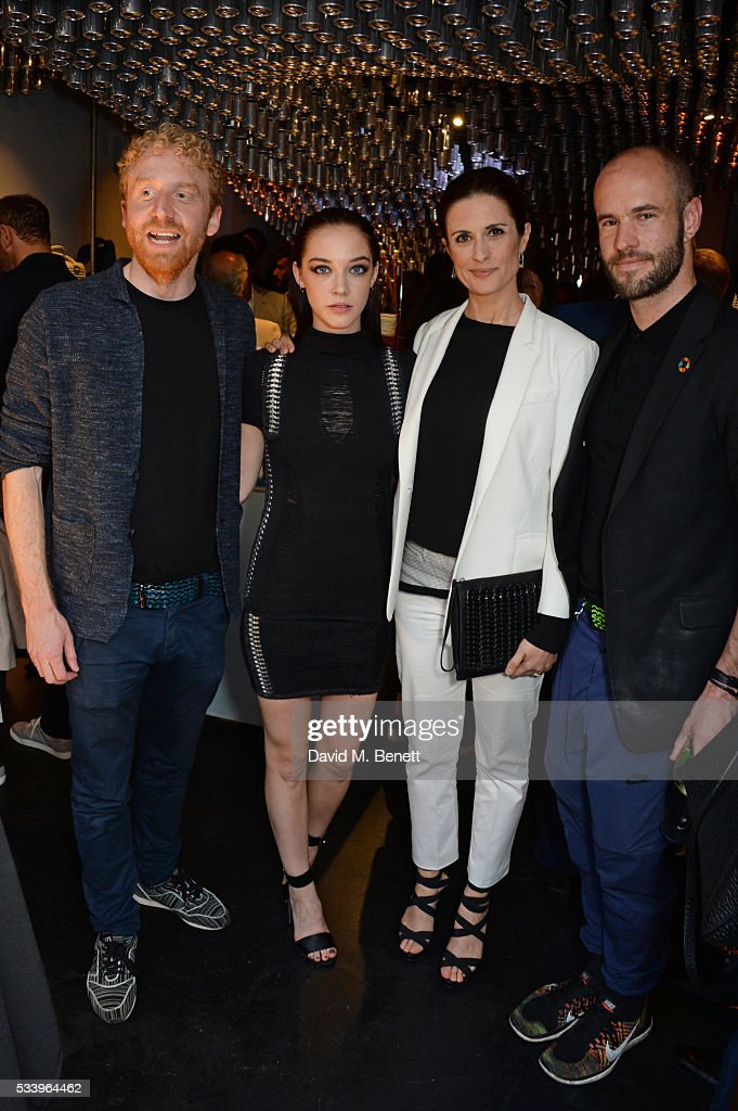 Oliver Wayman, Elizabeth Jane Bishop, Livia Firth and Cameron Saul attend the Bottletop Regent Street store launch on May 24, 2016 in London, England.