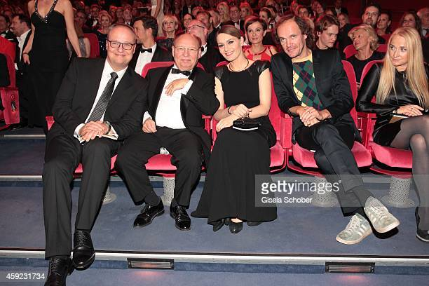 Oliver Welke HansJoachim Heist Martina Hill Olaf Schubert during the Bambi Awards 2014 on November 13 2014 in Berlin Germany