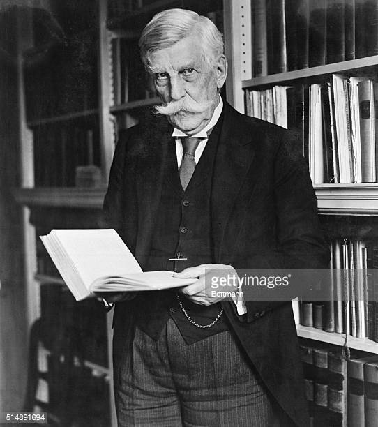 oliver wendell holmes jr in his library