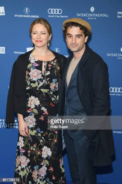 Oliver Wnuk and guest during the 6th German Actor Award Ceremony on September 22 2017 in Berlin Germany
