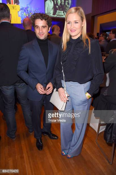 Oliver Wnuk and Judith Hoersch attend the opening recipience of the german film and TVproducer alliance to the 67 Berlinale International Film...