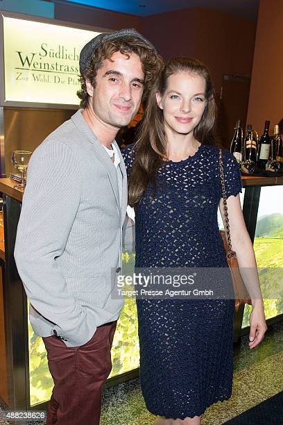 Oliver Wnuk and Yvonne Catterfeld attend the First Steps Awards 2015 after party at Stage Theater on September 14 2015 in Berlin Germany