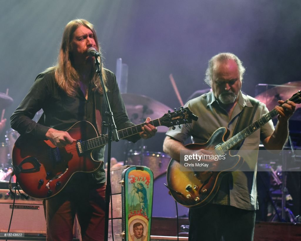 Oliver Wood of The Wood Brothers and Tinsley Ellis perform at The Fox Theatre on July 15, 2017 in Atlanta, Georgia.
