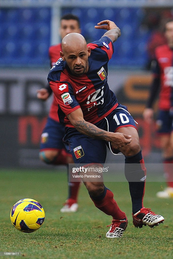 Olivera of Genoa CFC in action during the Serie A match between Genoa CFC and Calcio Catania at Stadio Luigi Ferraris on January 20, 2013 in Genoa, Italy.