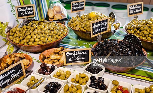 Olives at local market
