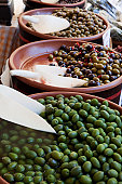 olives for sale in Italian market