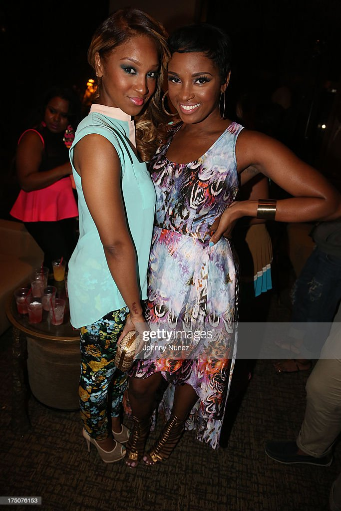 <a gi-track='captionPersonalityLinkClicked' href=/galleries/search?phrase=Olivia+-+Singer&family=editorial&specificpeople=4525542 ng-click='$event.stopPropagation()'>Olivia</a> and Ariane Davis attend the Salon Diaries Launch at Trump World Bar on July 30, 2013 in New York City.