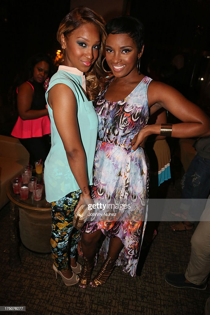 Olivia and Ariane Davis attend the Salon Diaries Launch at Trump World Bar on July 30, 2013 in New York City.