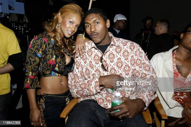 Olivia and Ron Artest during Olivia on Location for 'Twist It' Music Video May 20 2005 at Broadway Studios in Brooklyn New York United States