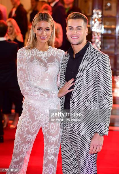 Olivia Attwood and Chris Hughes attending the ITV Gala held at the London Palladium Picture date Thursday November 9 2017 See PA story SHOWBIZ ITV...