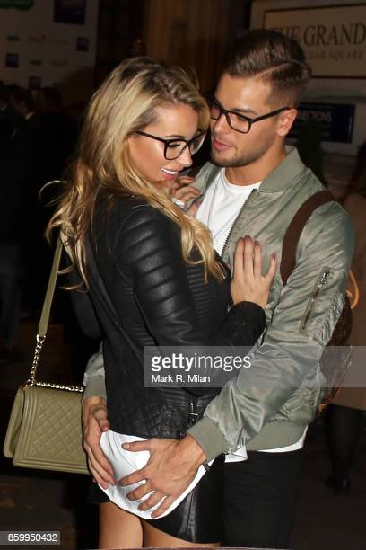 Olivia Attwood and Chris Hughes attending the Specsavers 'Spectacle Wearer of the Year' awards on October 10 2017 in London England