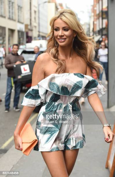 Olivia Attwood attends the 'In The Style Olivia Attwood' launch photocall at 100 Wardour Street on August 16 2017 in London England