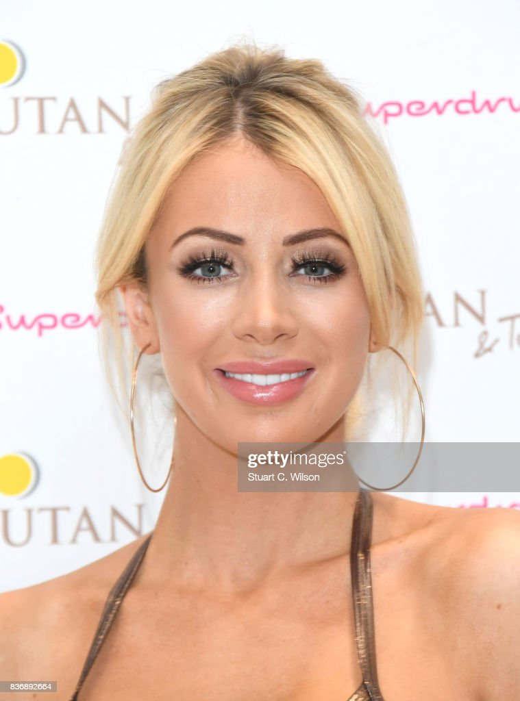 Olivia Attwood celebrates the nationwide launch of 'UTan & Tone' into Superdrug stores at Superdrug, Westfield White City on August 22, 2017 in London, England.