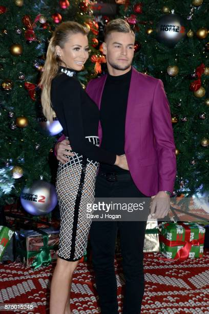 Olivia Atwood and Chris Hughes arrive at the UK Premiere of 'Daddy's Home 2' at Vue West End on November 16 2017 in London England