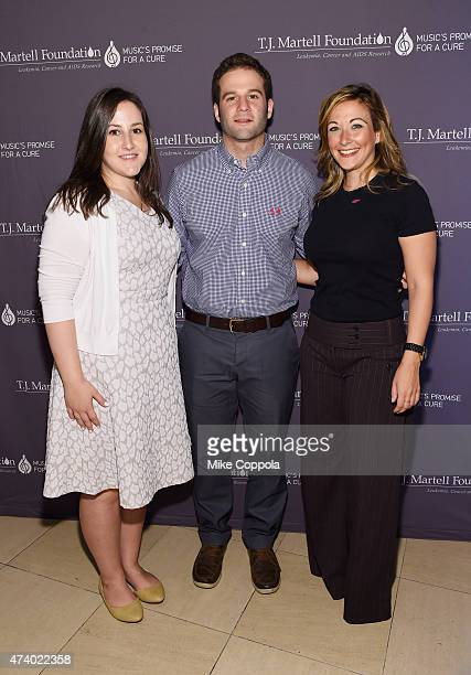 Olivia Barry Adam Bove And Merrell Schrank At The TJ Martell Foundations 40th Anniversary KickOff Breakfast