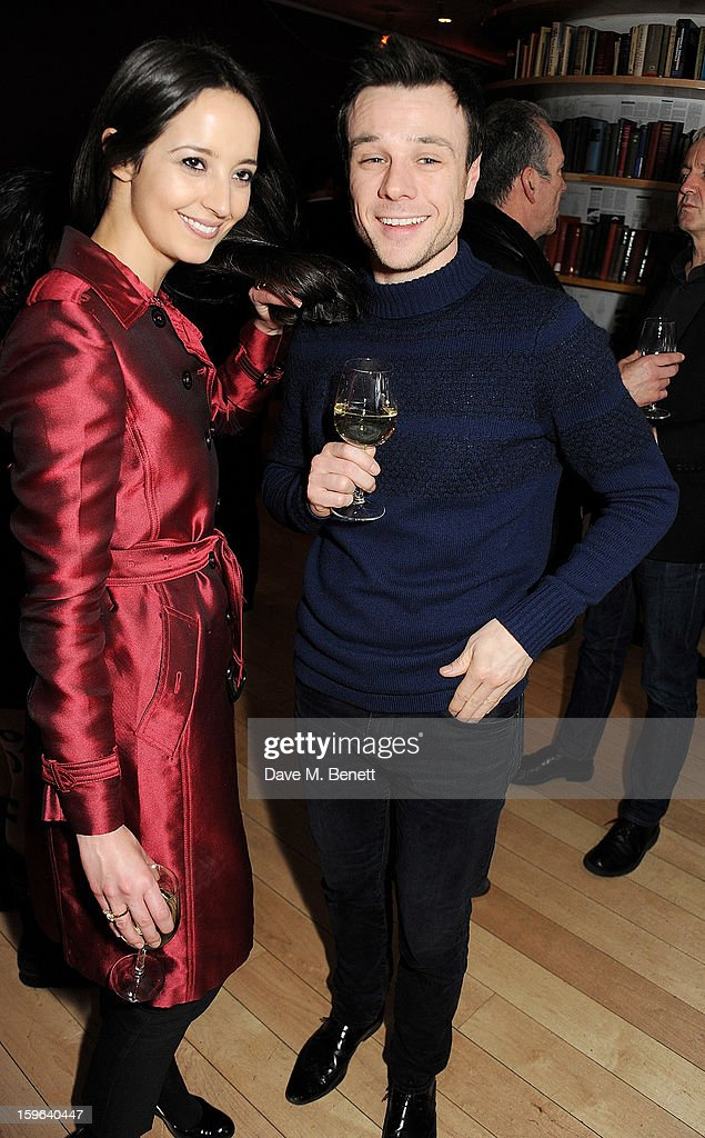Olivia Bennett (L) and Rupert Evans attends an after party celebrating the Red Carpet Premiere of the Netflix original series 'House of Cards' at Asia de Cuba, St Martins Lane Hotel, on January 17, 2013 in London, England.